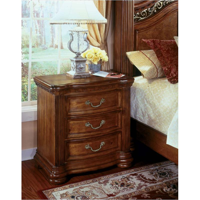 1635 865 Flexsteel Wynwood Furniture Cordoba   Burnished Pine Bedroom  Nightstand
