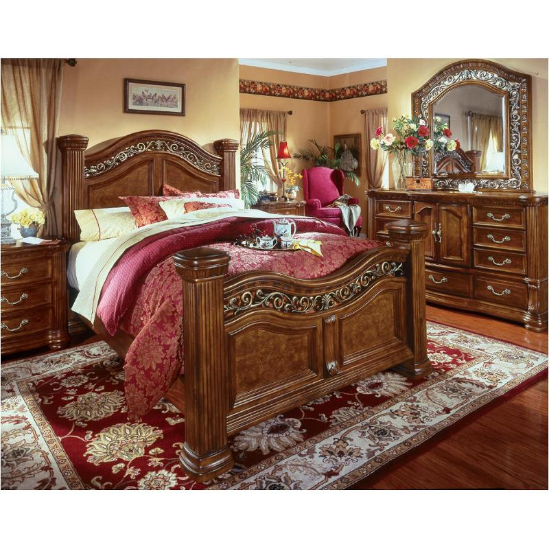 Beautiful 1635 95 Flexsteel Wynwood Furniture Cordoba   Burnished Pine Bedroom Bed