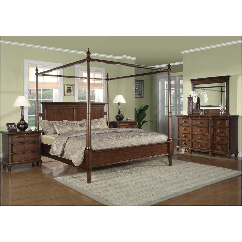 1980 95q1 Flexsteel Wynwood Furniture Hathaway Bedroom Bed