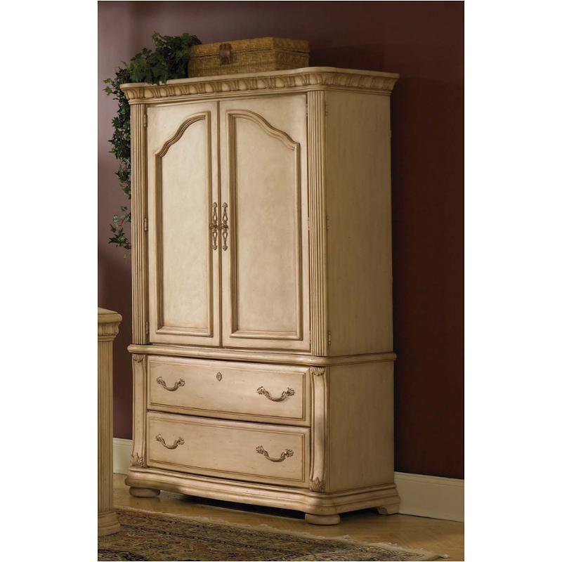 1636 772 Flexsteel Wynwood Furniture Cordoba   Antiguo Blanco Bedroom  Armoire
