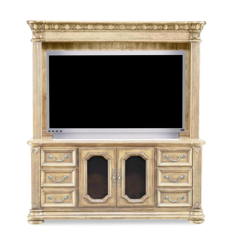 1636 521 Flexsteel Wynwood Furniture Cordoba   Antiguo Blanco Entertainment  Unit Antiguo Blanco
