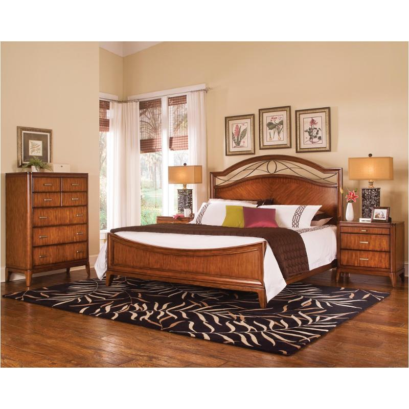 1769 94k1 Flexsteel Wynwood Furniture Cypress Pointe   Soft Amber Bedroom  Bed