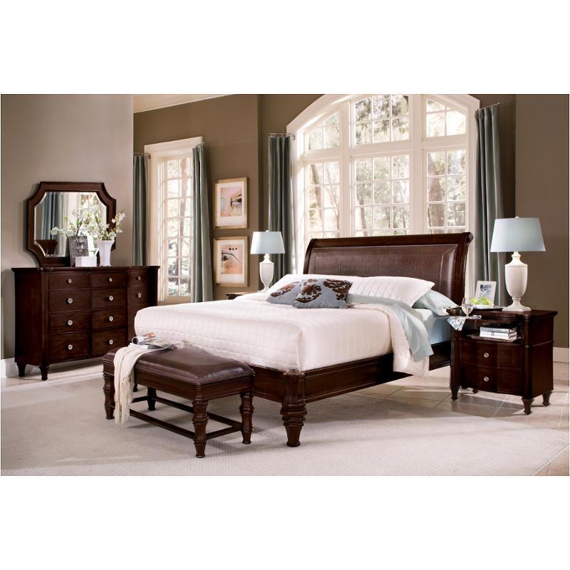 King Leather Platform Bed 1781 95k1 Flexsteel Wynwood Furniture Sutton Place Bedroom