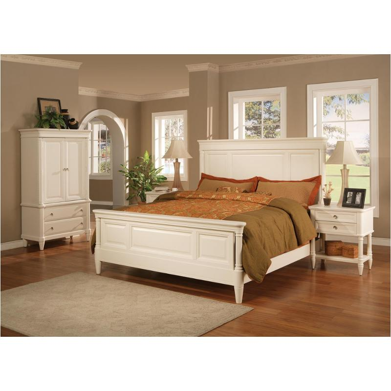 Captivating 1725 90k1 Flexsteel Wynwood Furniture Tuxedo Park   White Tie Bedroom Bed
