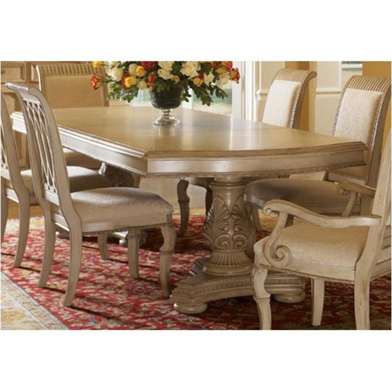 1636 332 Flexsteel Wynwood Furniture Cordoba   Antiguo Blanco Dining Room  Dining Table