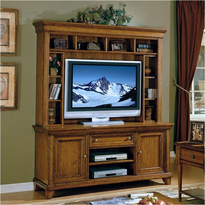 1544 521ck Flexsteel Wynwood Furniture Showtime   Vintage Oak Entertainment  Unit   Vintage Oak