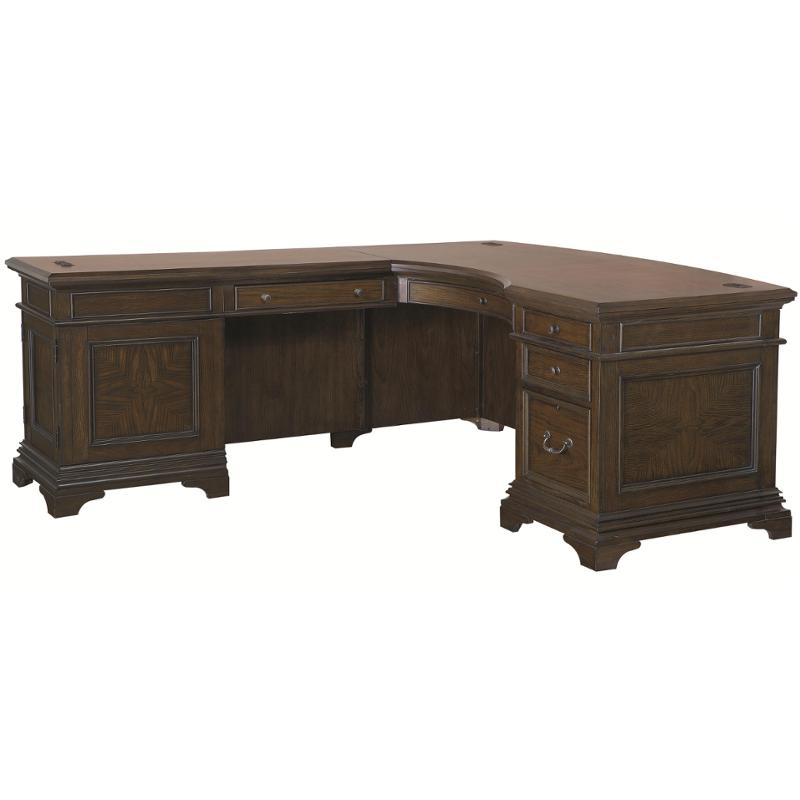 I24 307 Aspen Home Furniture Essex 66in Curved Desk For Return