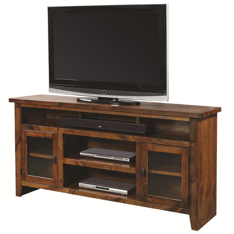 Dg1065 Frt Aspen Home Furniture Alder Grove 65in Console With Doors    Fruitwood