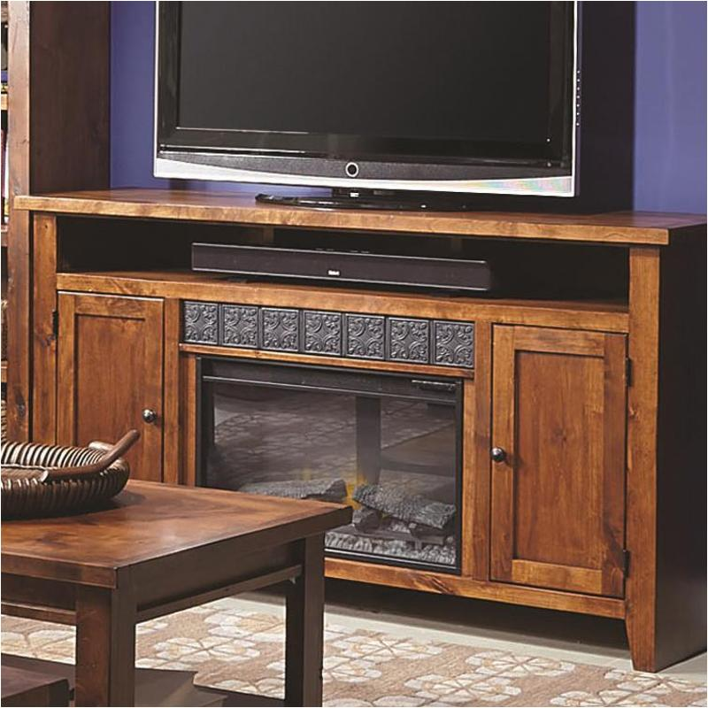 Dg1901 Frt Aspen Home Furniture Alder Grove 63in Fireplace Console    Fruitwood