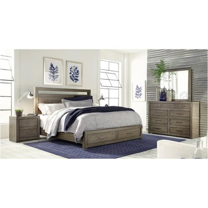 Iml-415-gry Aspen Home Furniture Modern Loft King Panel Bed