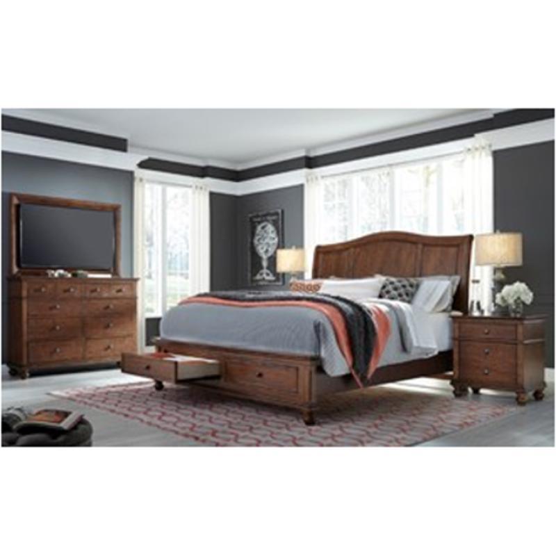 I07-404-wbr Aspen Home Furniture Oxford Bedroom King Sleigh Bed