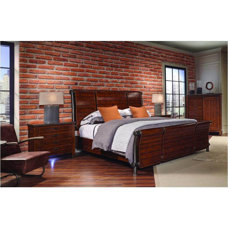 I58 404 Aspen Home Furniture Rockland King Sleigh Bed With Metal