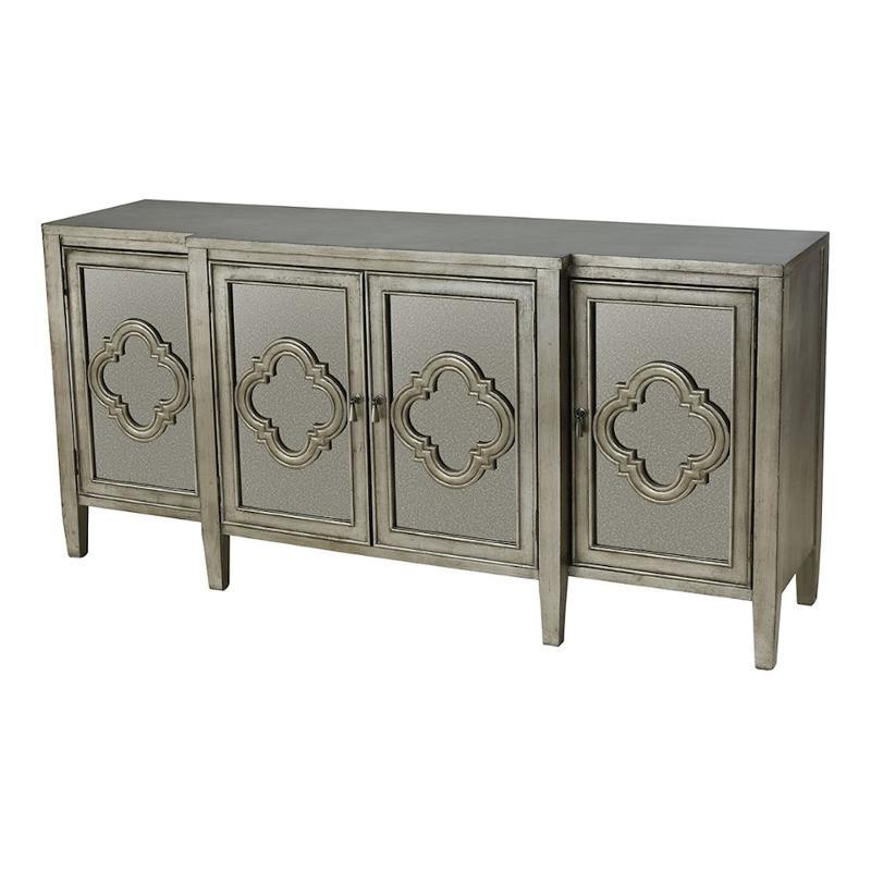 16781 Stein World 4 Door Cabinet  With Antique Mirror