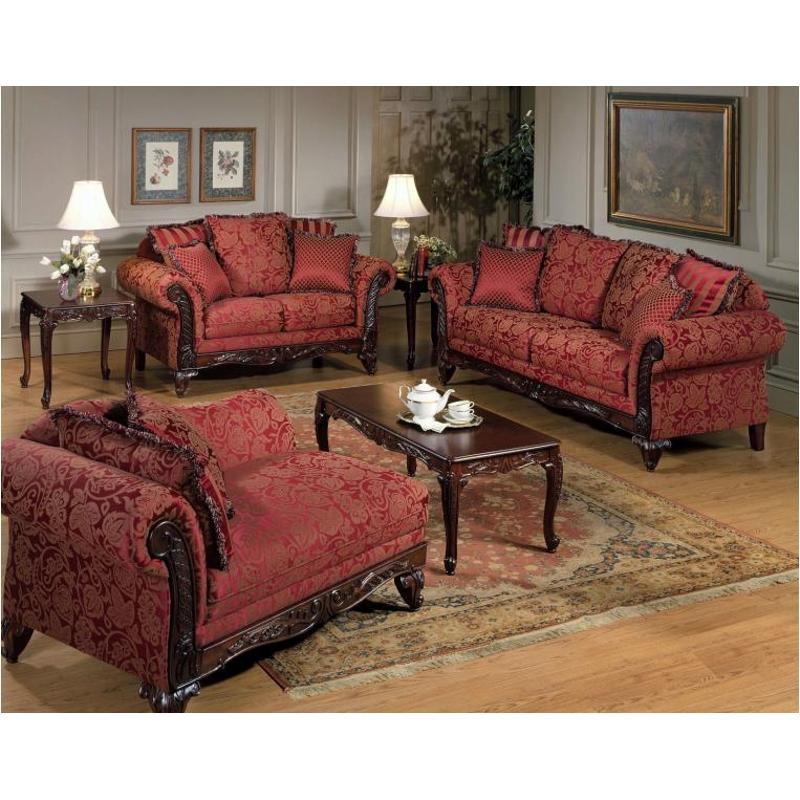 7650 Frs Hughes Furniture Wood Trim Sofa
