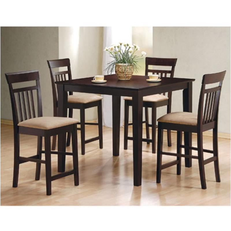 150041 Coaster Furniture Moreland - Cappuccino 5pc Counter Height Dining  Table/chair Set