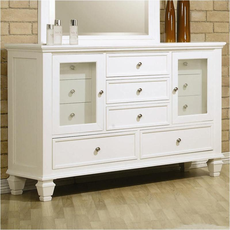 201303 Coaster Furniture Sandy Beach - White Dresser - White