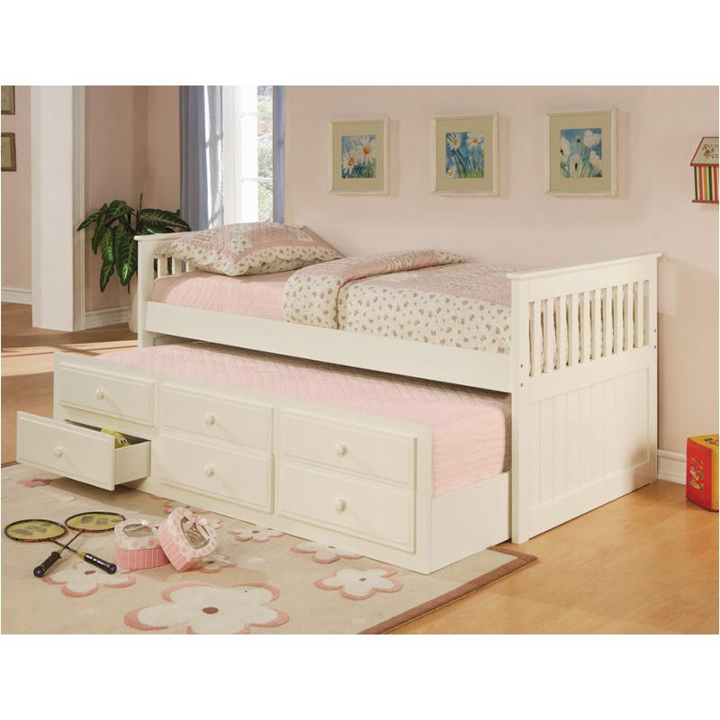 1e4a23a38b83 300107b1 Coaster Furniture La Salle Kids Room Trundle Bed - White