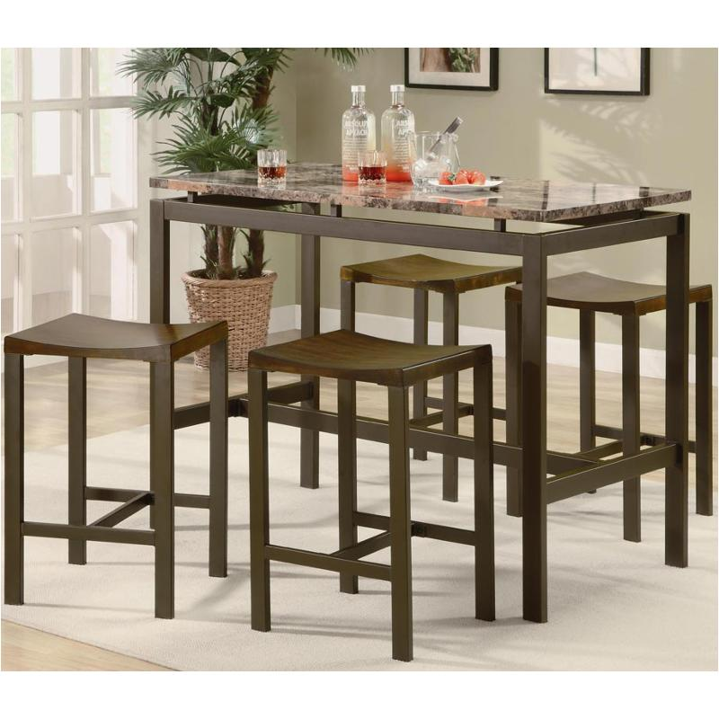 150096 Coaster Furniture Atlas Brown Accent Counter Height Table
