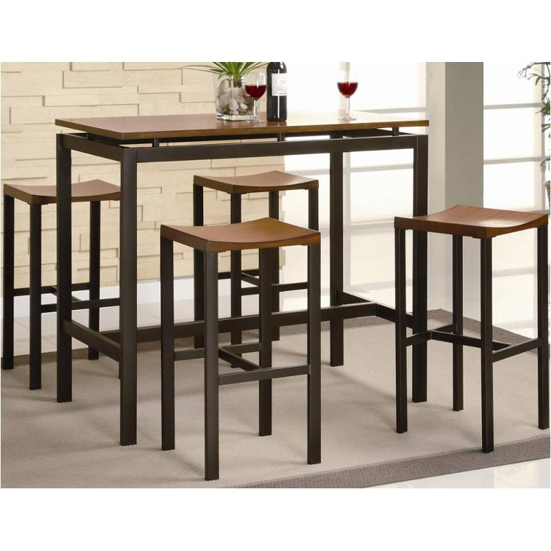 150097 Coaster Furniture 5 Pc Counter Height Dining Table Set