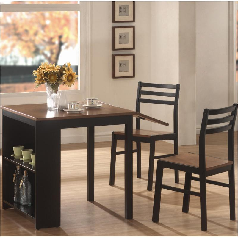 130015 Coaster Furniture Persia 3 Pc Breakfast Table And Chair Set