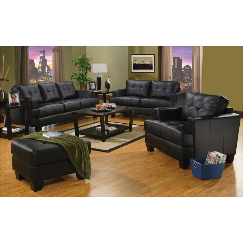 501681 Coaster Furniture Samuel Black Living Room Sofa