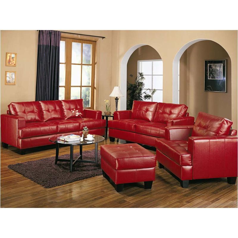 Red Living Room: 501831 Coaster Furniture Samuel