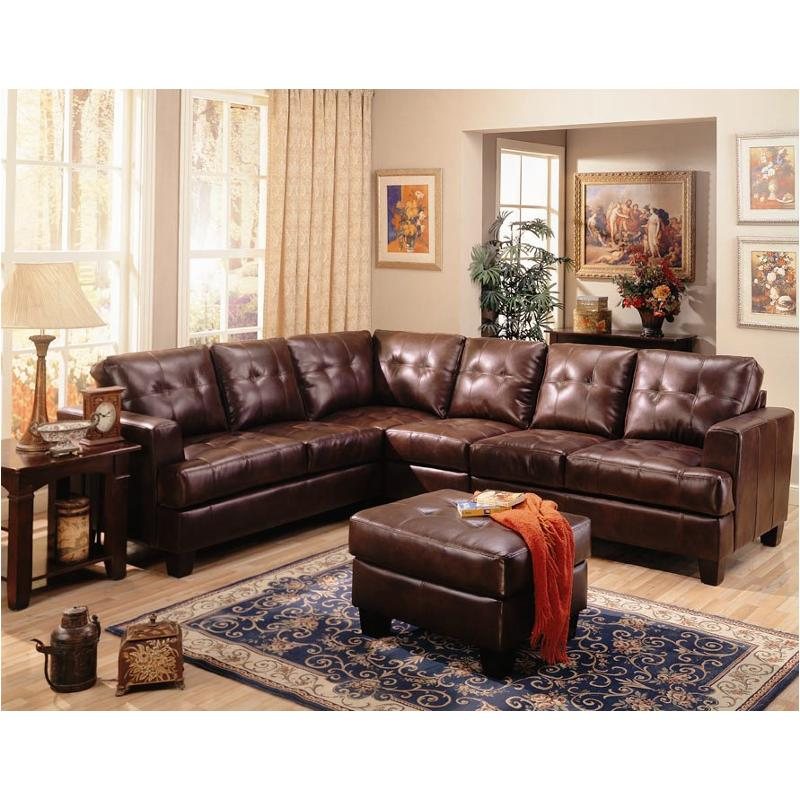 500911b2 Coaster Furniture Samuel - Dark Brown Sectional Sofa