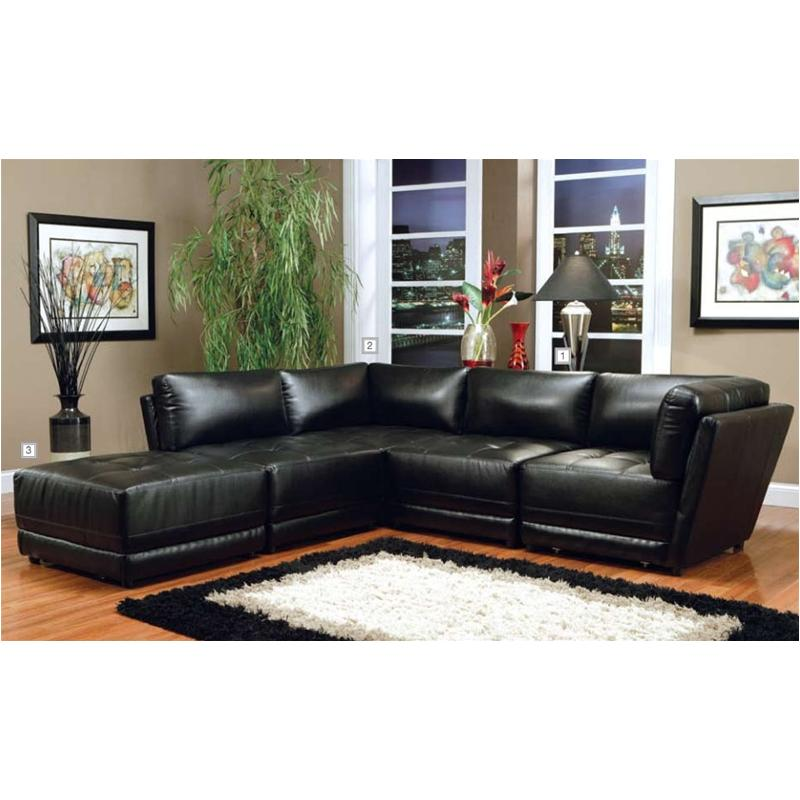 500893 Coaster Furniture Kayson - Black Ottoman