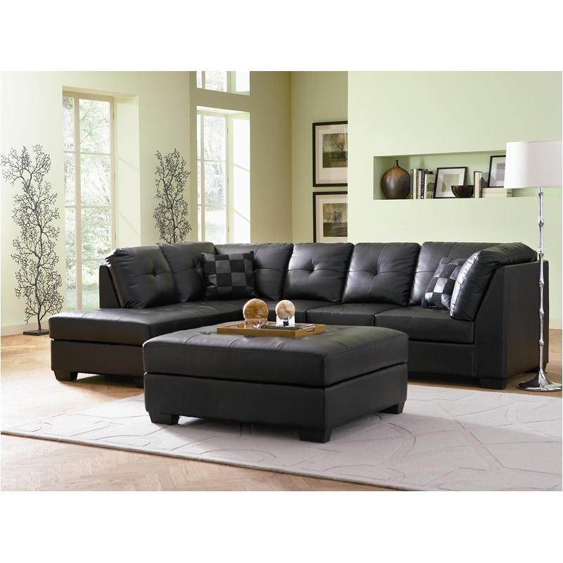 500606b1 Coaster Furniture Darie Black Living Room Sectional