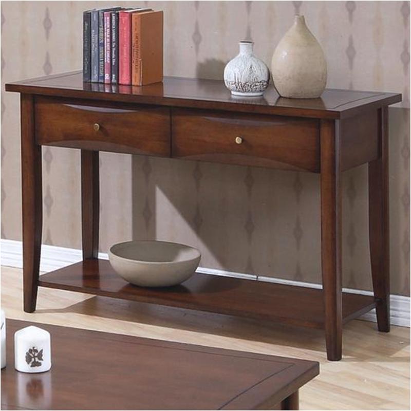 700959 Coaster Furniture Whitehall Walnut Living Room Sofa Table