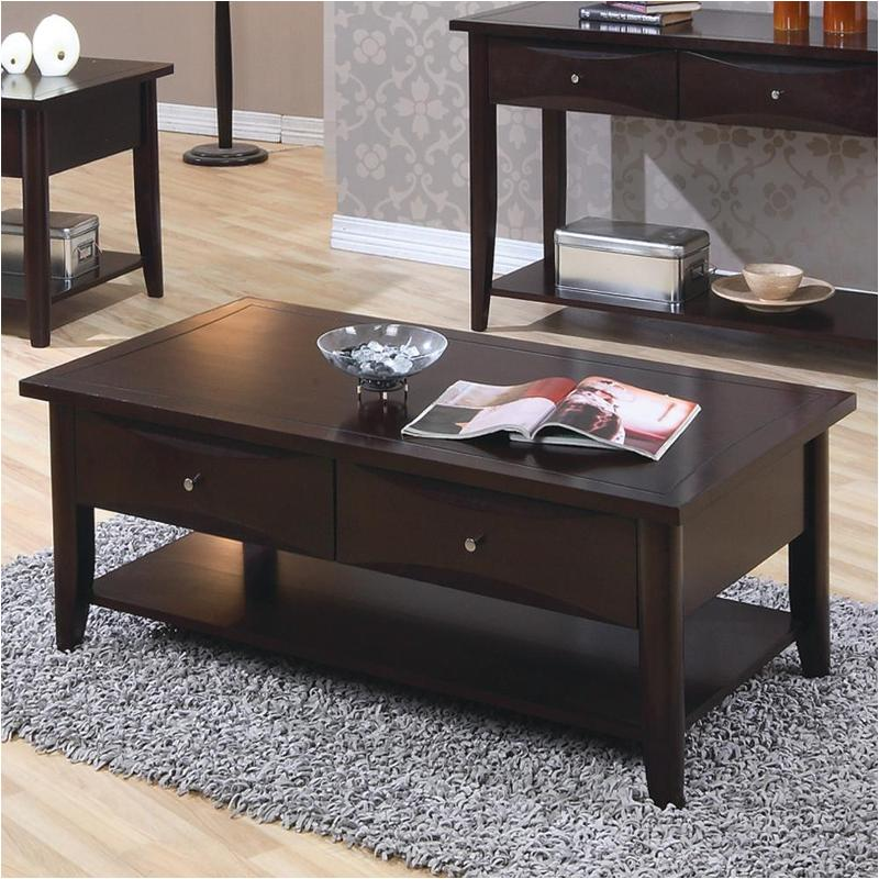 Strange 700968 Coaster Furniture Whitehall Cappuccino Coffee Table Alphanode Cool Chair Designs And Ideas Alphanodeonline