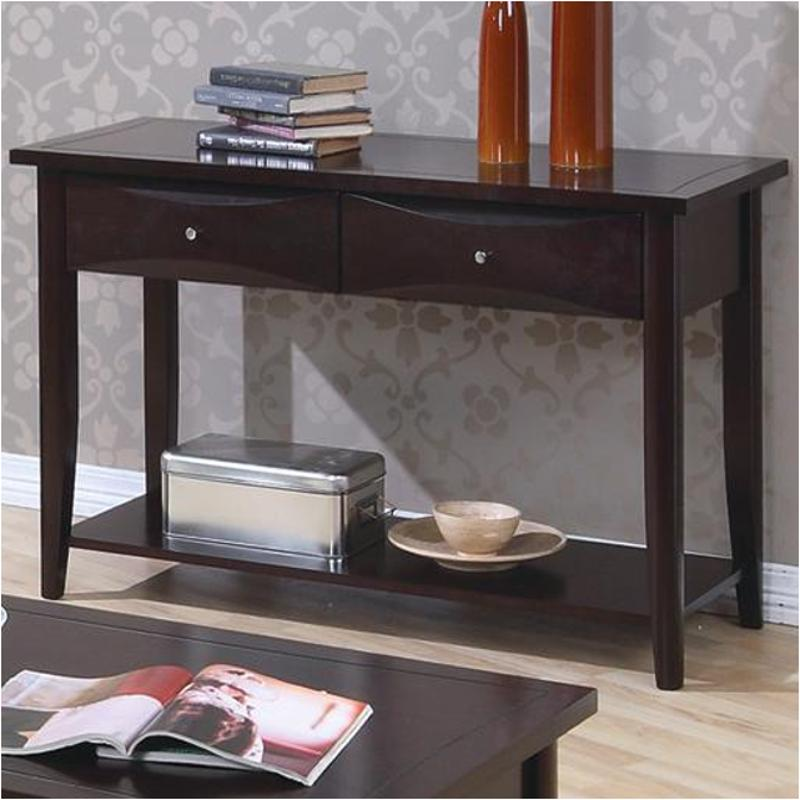 700969 Coaster Furniture Whitehall Cuccino Living Room Sofa Table