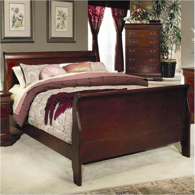 200431qb1 Coaster Furniture Louis Philippe   Cherry Bedroom Bed