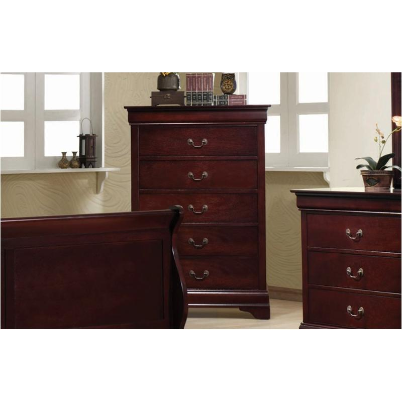 203975 Coaster Furniture Louis Philippe - Cherry Bedroom Chest