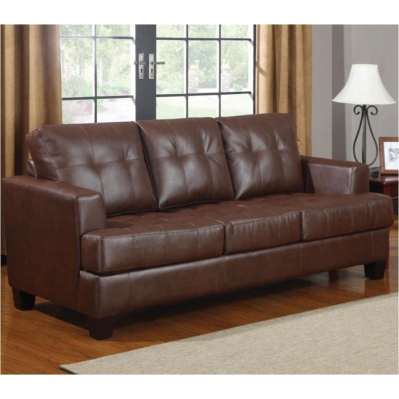 504071 Coaster Furniture Samuel - Dark Brown Sofa