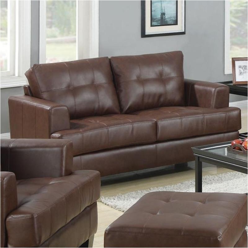 Superb 504072 Coaster Furniture Samuel Dark Brown Love Seat Short Links Chair Design For Home Short Linksinfo