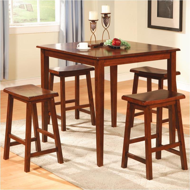 150292n Coaster Furniture Yates   Walnut 5pc Table/bar Stool Pub Set    Walnut