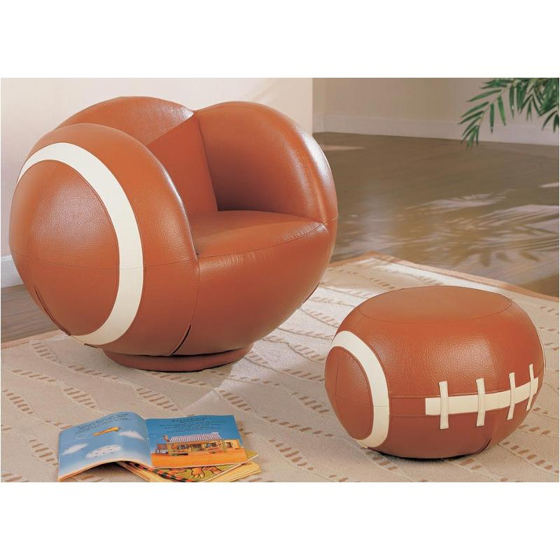 Tremendous 460189 Coaster Furniture Large Kids Football Chair And Ottoman Pdpeps Interior Chair Design Pdpepsorg