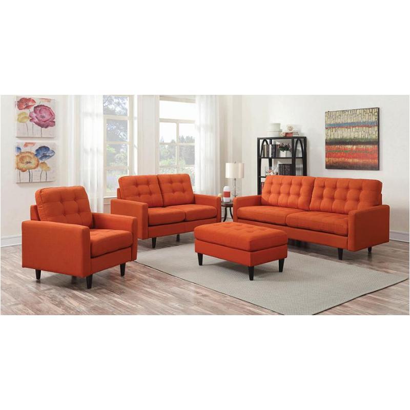 505371 Coaster Furniture Kesson - Orange Sofa