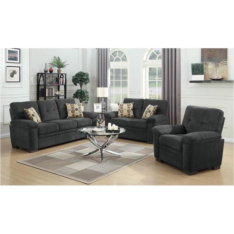 506584 Coaster Furniture Fairbairn - Charcoal Sofa
