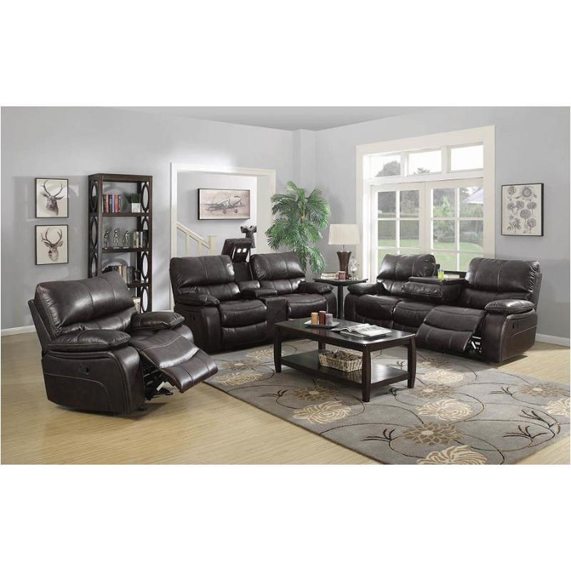 601931 Coaster Furniture Willemse - Dark Brown Motion Sofa With Drop Down