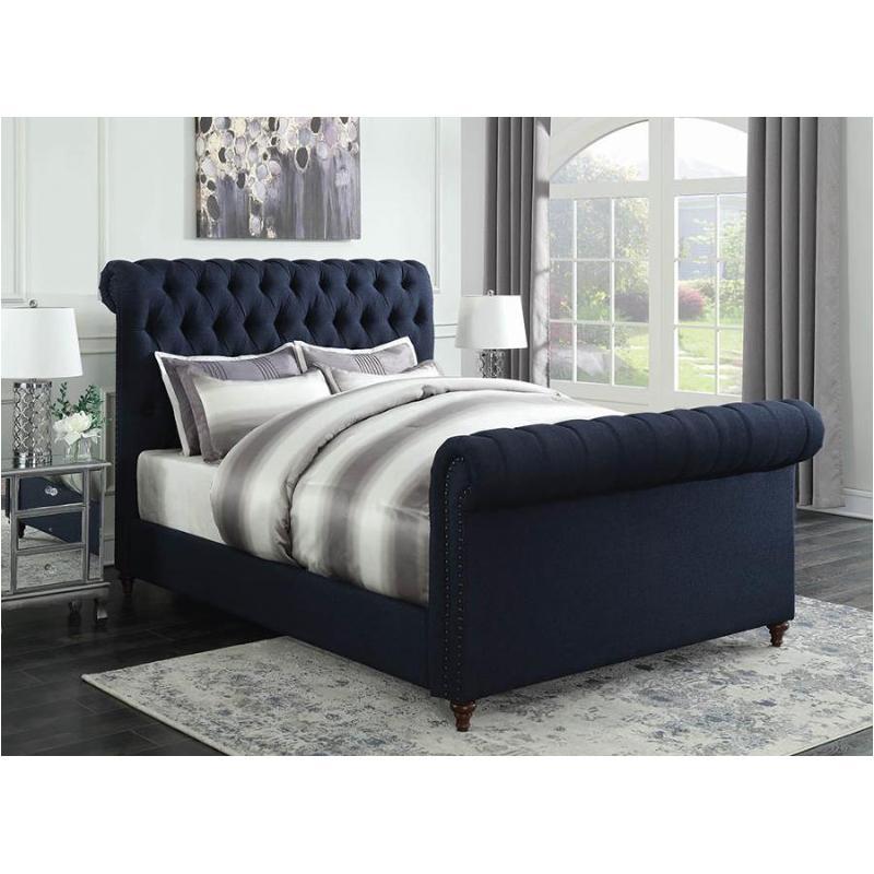 300653f Coaster Furniture Gresham - Navy Blue Full Bed