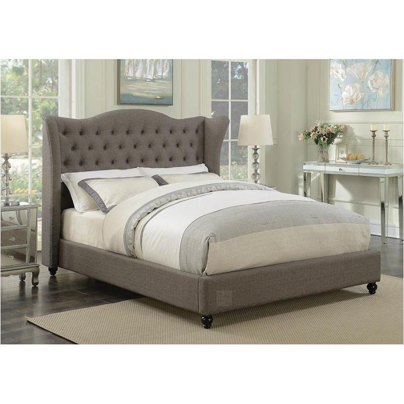 eastern king bed 300739ke Coaster Furniture Newburgh - Light Grey Bedroom Bed