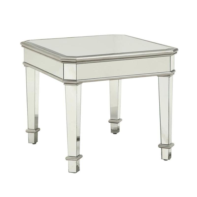more photos d9520 ea2ce 703937 Coaster Furniture Cairns - Silver End Table