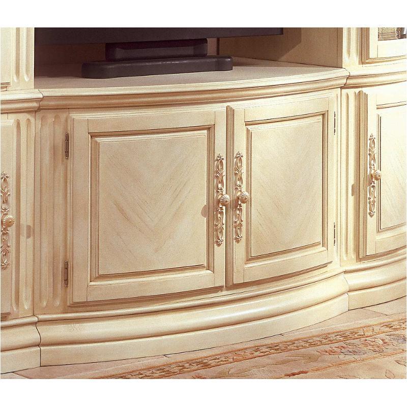 53095 07 Aico Furniture Monte Carlo Snow Cable Tv Console Silver