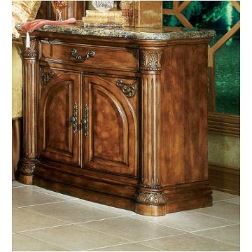 53040 24 Aico Furniture Nightstand With Marble Top Pecan