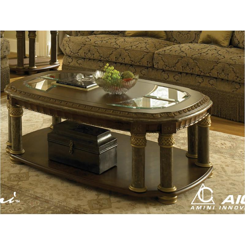 56201 25 Aico Furniture Torino Jumbo Rectangular Cocktail Table With  Credenza