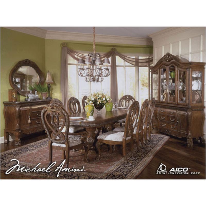 60002t-23 Aico Furniture Eden Rectangular Dining Table - Amaretto