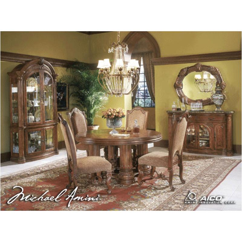 53001t 24 Aico Furniture Monte Carlo Pecan Dining Room Dining Table