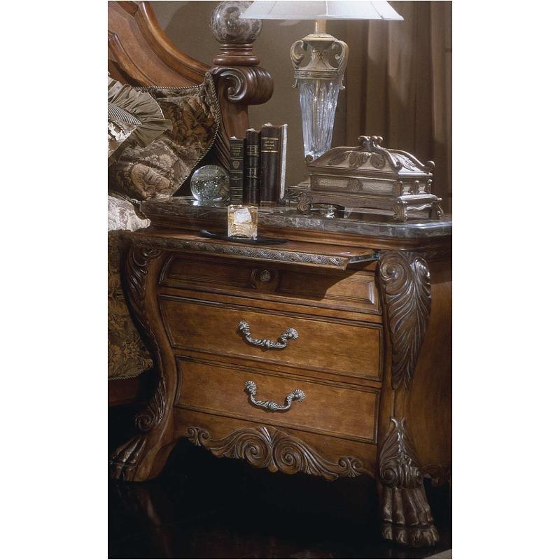 60040 23 Aico Furniture Eden Bedroom Bedside Chest Amaretto